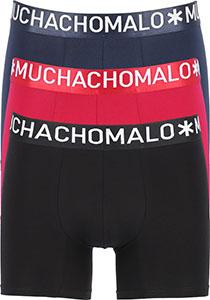 Muchachomalo Light Cotton heren boxershorts (3-pack), blauw, rood en zwart
