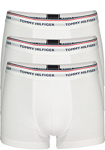 Tommy Hilfiger trunks (3-pack), heren boxers normale lengte, wit