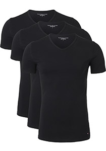 Tommy Hilfiger Premium Essentials Cotton stretch T-shirts (3-pack), V-hals, zwart