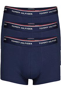 Tommy Hilfiger trunks (3-pack), heren boxers normale lengte, blauw