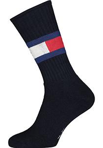 Tommy Hilfiger Flag Socks (1-pack), unisex sportsokken katoen, donkerblauw