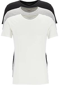 Tommy Hilfiger Cotton stretch T-shirts (3-pack), heren T-shirt V-hals, zwart, grijs en wit