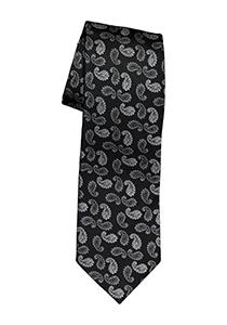 Michaelis stropdas, zwart paisley