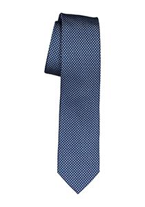 Michaelis stropdas, blauw met wit dessin