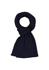 Profuomo heren sjaal, gebreid wolmengsel met kasjmier, donkerblauw