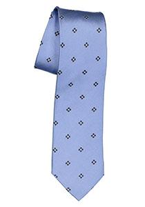 Michaelis  stropdas, zijde, lichtblauw met donkerblauw en wit dessin