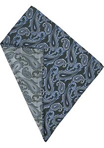 Michaelis pocket square, groene paisley pochet zijde