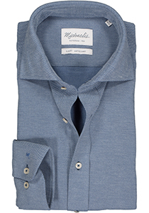 Michaelis Slim Fit  overhemd, blauw knitted shirt