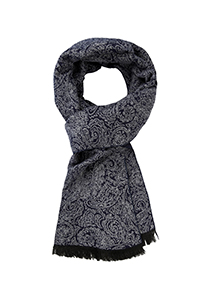 Michaelis  heren sjaal, blauw met grijs paisley dessin