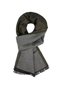 Michaelis  heren sjaal, olijfgroen met grijs