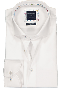 Profuomo Slim Fit mouwlengte 7 overhemd, wit twill