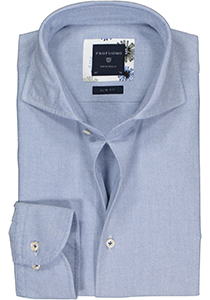 Profuomo Slim Fit  overhemd, lichtblauw Oxford soft