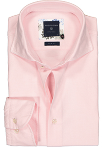 Profuomo Slim Fit  overhemd, roze Oxford soft