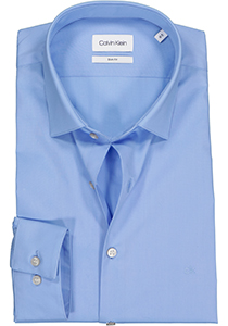 Calvin Klein Slim Fit 2 ply, stretch overhemd, light blue