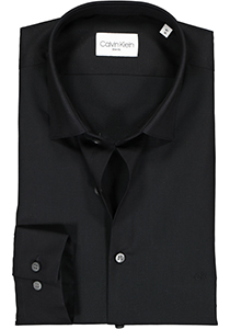 Calvin Klein Slim Fit 2 ply, stretch overhemd, black