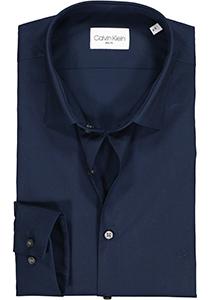 Calvin Klein Slim Fit 2 ply, stretch overhemd, midnight blue