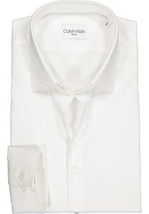Calvin Klein Slim Fit 2 ply, stretch overhemd, wit