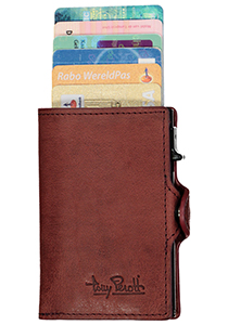 Tony Perotti pasjes RFID portemonnee (6 pasjes) met papiergeldvak, bordeaux vintage leer
