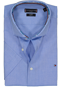 Tommy Hilfiger Core stretch Regular Fit overhemd, lichtblauw Oxford