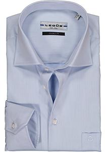 Ledub Modern Fit overhemd, mouwlengte 7, lichtblauw twill