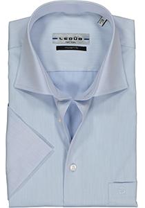 Ledub Modern Fit overhemd, korte mouw, lichtblauw twill