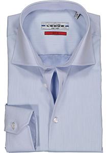 Ledub Slim Fit overhemd, lichtblauw twill