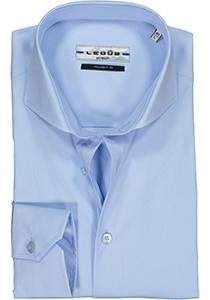 Ledub Modern Fit overhemd, lichtblauw stretch