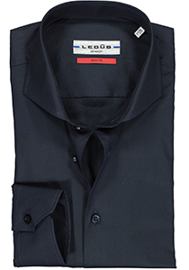 Ledub Slim Fit overhemd, donkerblauw