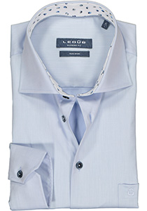 Ledub Modern Fit overhemd, lichtblauw twill (contrast)