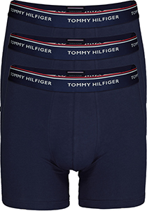 Tommy Hilfiger boxer briefs lang (3-pack), heren boxers lang, blauw