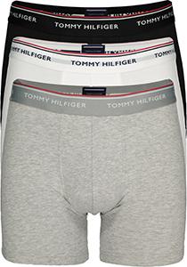 Tommy Hilfiger boxershorts lang, (3-pack) zwart, wit en grijs