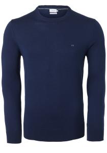Calvin Klein O-hals trui (wol), navy blauw