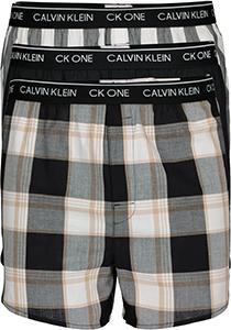 Calvin Klein Woven Boxers Slim Fit (3-pack), wijde boxers katoen, zwart