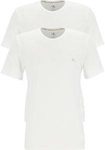 Calvin Klein CK ONE cotton crew neck T-shirts (2-pack), heren T-shirts O-hals, wit