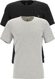 Calvin Klein CK ONE cotton crew neck T-shirts (2-pack), heren T-shirts O-hals, zwart en grijs melange