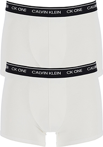 Calvin Klein CK ONE Cotton trunk (2-pack), heren boxer normale lengte, wit