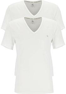 Calvin Klein CK ONE cotton V- neck T-shirts (2-pack), heren T-shirts V-hals, wit