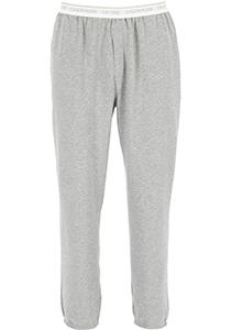 Calvin Klein CK ONE Lounge jogger, heren lounge joggingbroek lang, middeldik, grijs melange