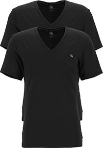 Calvin Klein CK ONE cotton V- neck T-shirts (2-pack), heren T-shirts V-hals, zwart