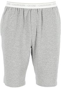 Calvin Klein CK ONE Lounge short, heren lounge joggingbroek kort, middeldik, grijs melange