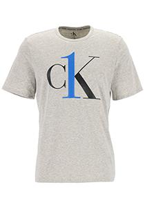 Calvin Klein CK ONE lounge T-shirt, heren lounge T-shirt O-hals, grijs melange met logo