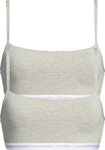 Calvin Klein dames ONE Cotton bralette (2-pack), ongevoerd, grijs