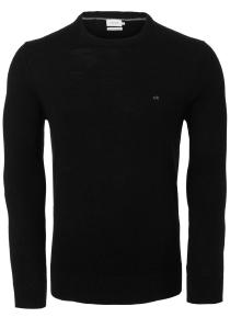 Calvin Klein O-hals trui (wol), zwart