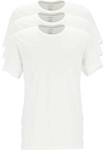 Calvin Klein Cotton Classics crew neck T-shirt (3-pack), heren T-shirts O-hals, wit