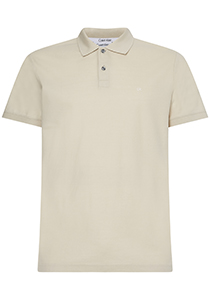 Calvin Klein Slim Polo Pique, off-white, bleached stone