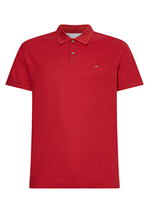 Calvin Klein Slim Polo Pique, rood, true rose