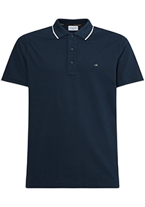 Calvin Klein Tipping Slim polo (stretch), blauw