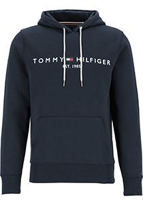 Tommy Hilfiger Core Tommy logo hoody, regular fit heren sweathoodie, donkerblauw