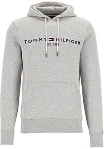 Tommy Hilfiger Core Tommy logo hoody, regular fit heren sweathoodie, grijs melange