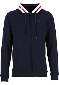Tommy Hilfiger Nature Tech hoodie sweatvest, heren vest met capuchon, middeldik, blauw